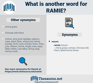 ramie, synonym ramie, another word for ramie, words like ramie, thesaurus ramie