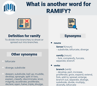 ramify, synonym ramify, another word for ramify, words like ramify, thesaurus ramify