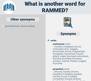 Rammed, synonym Rammed, another word for Rammed, words like Rammed, thesaurus Rammed