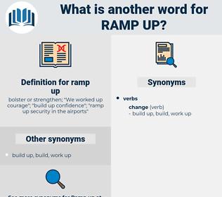 ramp up, synonym ramp up, another word for ramp up, words like ramp up, thesaurus ramp up