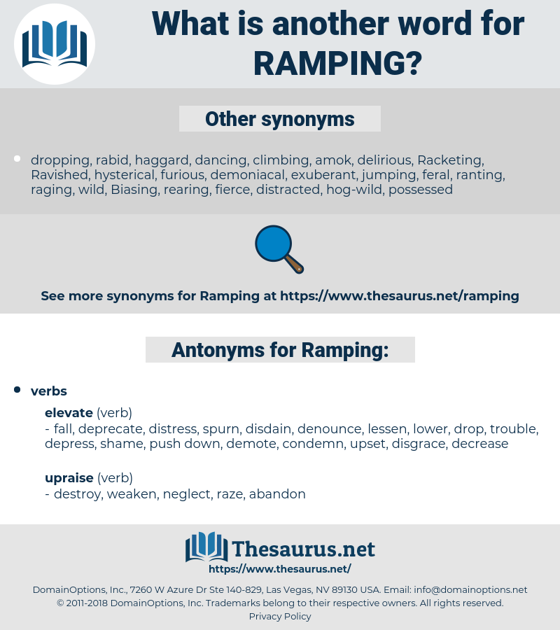 Ramping, synonym Ramping, another word for Ramping, words like Ramping, thesaurus Ramping
