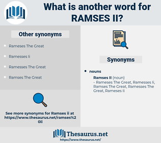 Ramses Ii, synonym Ramses Ii, another word for Ramses Ii, words like Ramses Ii, thesaurus Ramses Ii