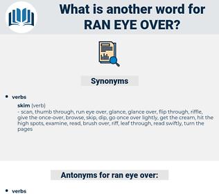 ran eye over, synonym ran eye over, another word for ran eye over, words like ran eye over, thesaurus ran eye over