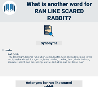 ran like scared rabbit, synonym ran like scared rabbit, another word for ran like scared rabbit, words like ran like scared rabbit, thesaurus ran like scared rabbit
