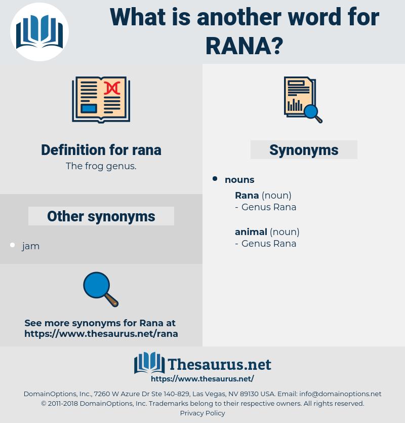 rana, synonym rana, another word for rana, words like rana, thesaurus rana