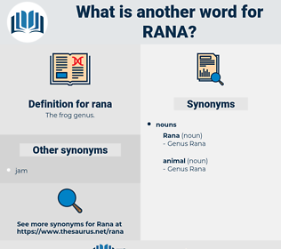 rana, synonym rana, another word for rana, words like rana, thesaurus rana