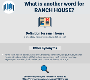 ranch house, synonym ranch house, another word for ranch house, words like ranch house, thesaurus ranch house