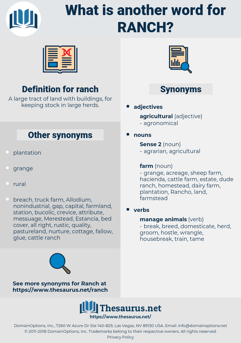 ranch, synonym ranch, another word for ranch, words like ranch, thesaurus ranch
