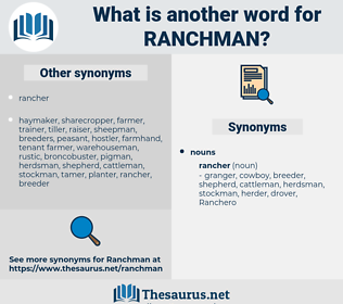 Ranchman, synonym Ranchman, another word for Ranchman, words like Ranchman, thesaurus Ranchman