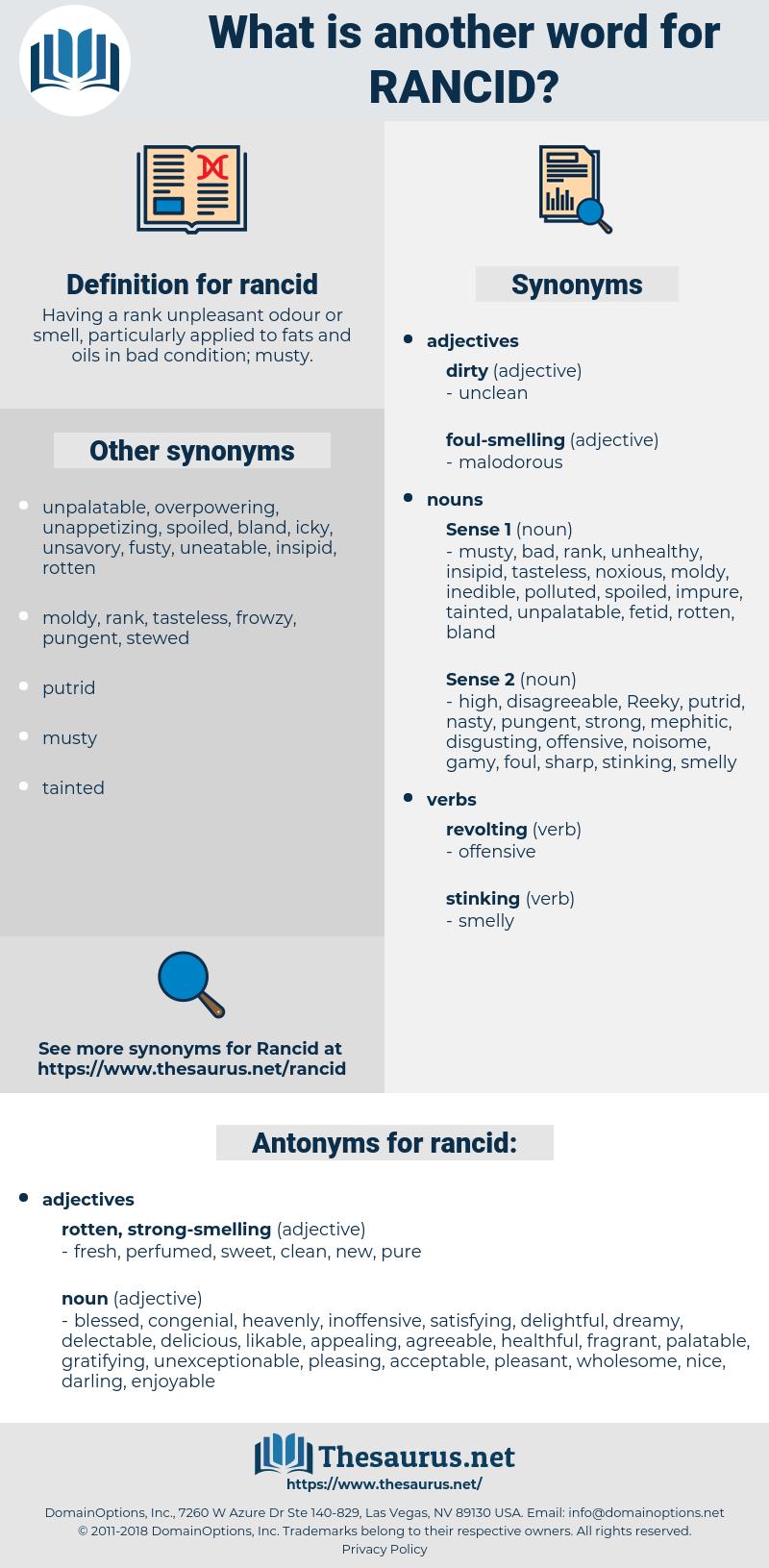 rancid, synonym rancid, another word for rancid, words like rancid, thesaurus rancid