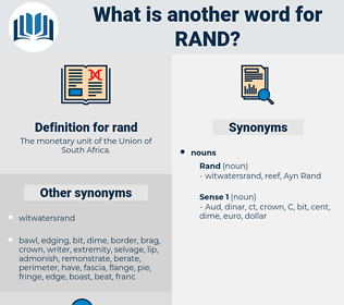 rand, synonym rand, another word for rand, words like rand, thesaurus rand