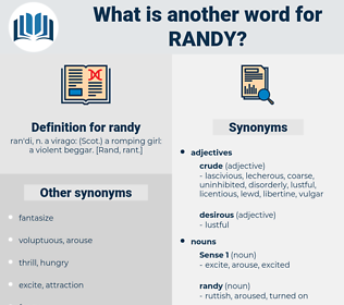 randy, synonym randy, another word for randy, words like randy, thesaurus randy