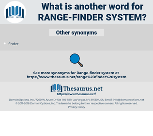 range-finder system, synonym range-finder system, another word for range-finder system, words like range-finder system, thesaurus range-finder system