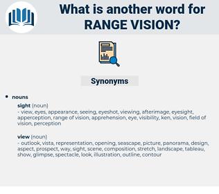 range vision, synonym range vision, another word for range vision, words like range vision, thesaurus range vision