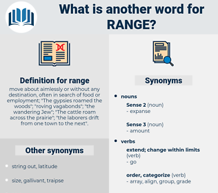 range, synonym range, another word for range, words like range, thesaurus range