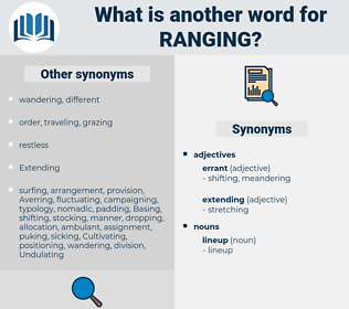 ranging, synonym ranging, another word for ranging, words like ranging, thesaurus ranging