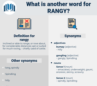 rangy, synonym rangy, another word for rangy, words like rangy, thesaurus rangy