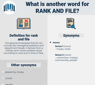rank and file, synonym rank and file, another word for rank and file, words like rank and file, thesaurus rank and file
