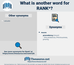 rank, synonym rank, another word for rank, words like rank, thesaurus rank