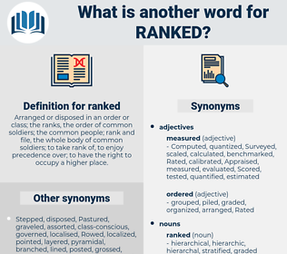 ranked, synonym ranked, another word for ranked, words like ranked, thesaurus ranked