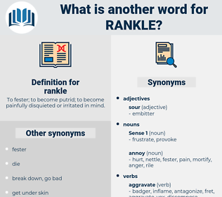 rankle, synonym rankle, another word for rankle, words like rankle, thesaurus rankle