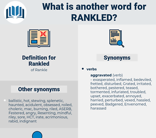 Rankled, synonym Rankled, another word for Rankled, words like Rankled, thesaurus Rankled