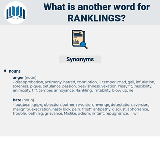 ranklings, synonym ranklings, another word for ranklings, words like ranklings, thesaurus ranklings