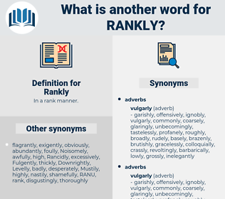 Rankly, synonym Rankly, another word for Rankly, words like Rankly, thesaurus Rankly
