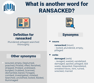 ransacked, synonym ransacked, another word for ransacked, words like ransacked, thesaurus ransacked