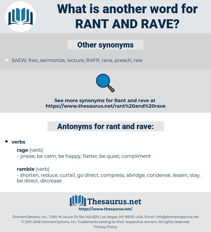 rant and rave, synonym rant and rave, another word for rant and rave, words like rant and rave, thesaurus rant and rave