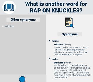 rap on knuckles, synonym rap on knuckles, another word for rap on knuckles, words like rap on knuckles, thesaurus rap on knuckles