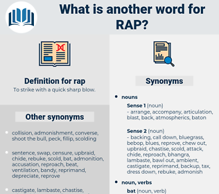 rap, synonym rap, another word for rap, words like rap, thesaurus rap