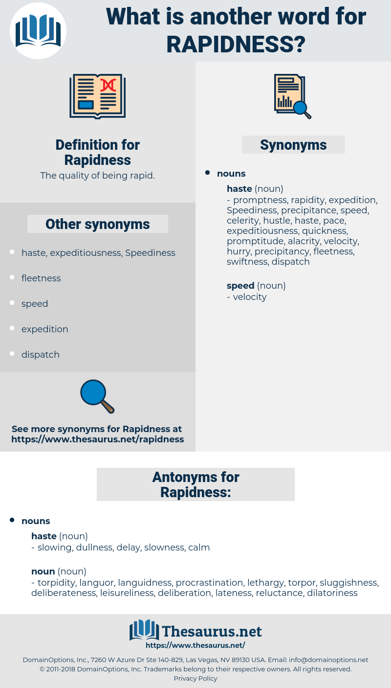 Rapidness, synonym Rapidness, another word for Rapidness, words like Rapidness, thesaurus Rapidness