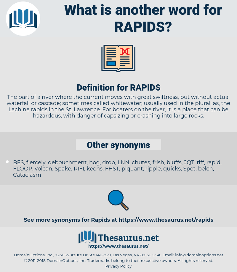 RAPIDS, synonym RAPIDS, another word for RAPIDS, words like RAPIDS, thesaurus RAPIDS