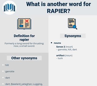 rapier, synonym rapier, another word for rapier, words like rapier, thesaurus rapier