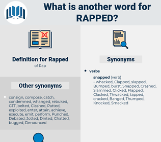 Rapped, synonym Rapped, another word for Rapped, words like Rapped, thesaurus Rapped