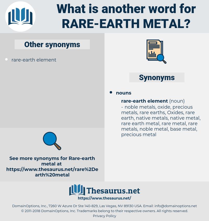 rare-earth metal, synonym rare-earth metal, another word for rare-earth metal, words like rare-earth metal, thesaurus rare-earth metal