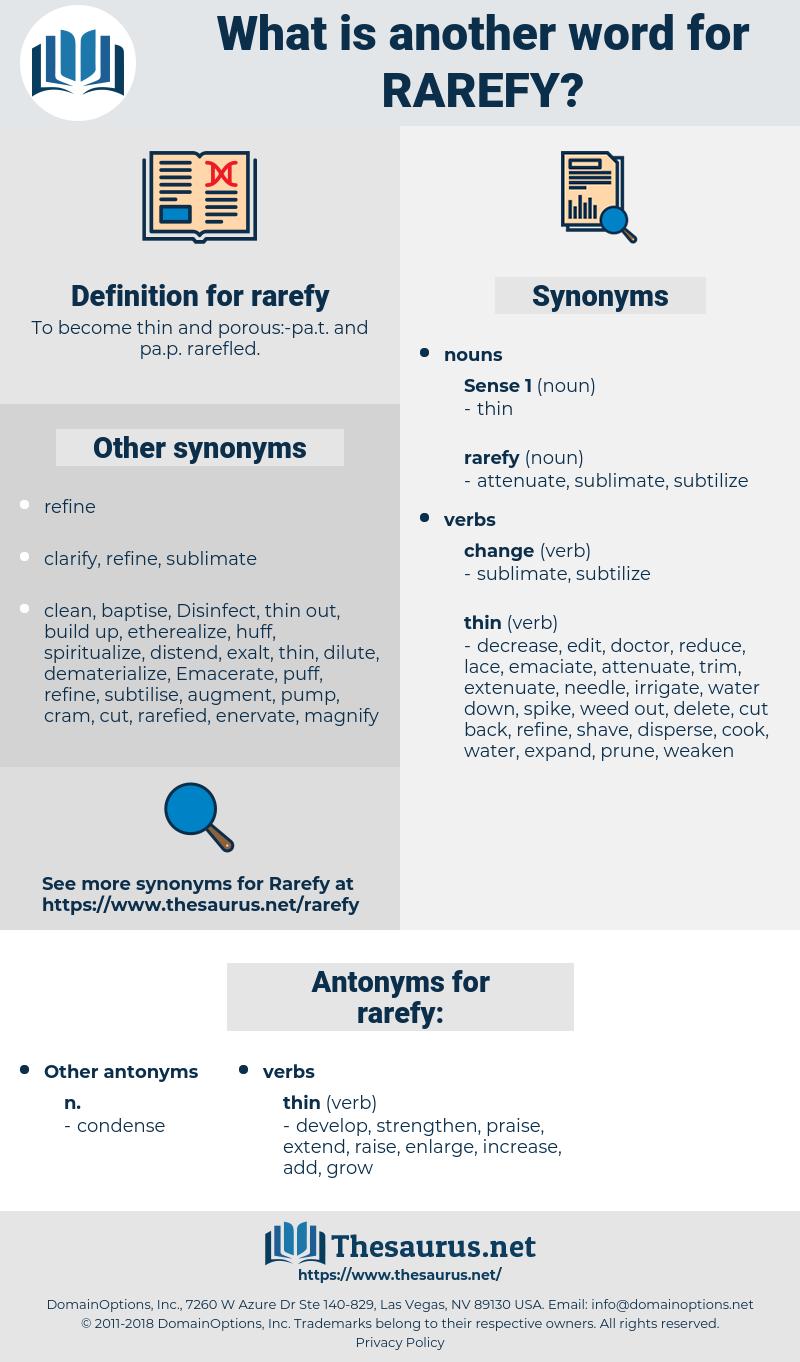 rarefy, synonym rarefy, another word for rarefy, words like rarefy, thesaurus rarefy