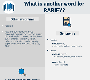 rarify, synonym rarify, another word for rarify, words like rarify, thesaurus rarify