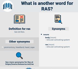 ras, synonym ras, another word for ras, words like ras, thesaurus ras