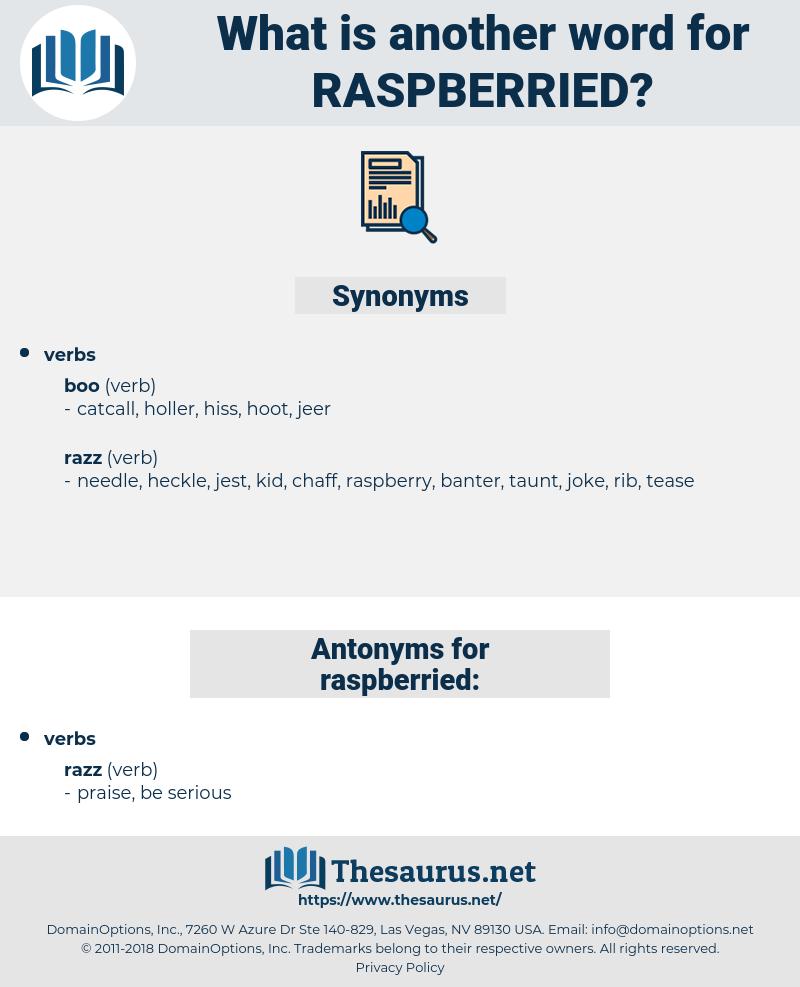 raspberried, synonym raspberried, another word for raspberried, words like raspberried, thesaurus raspberried