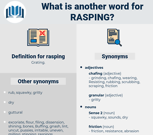 rasping, synonym rasping, another word for rasping, words like rasping, thesaurus rasping