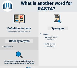 rasta, synonym rasta, another word for rasta, words like rasta, thesaurus rasta