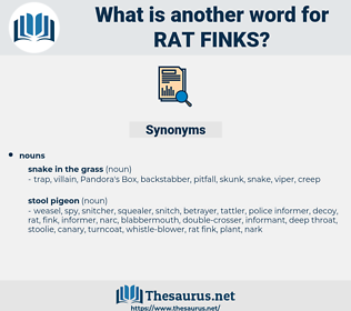 rat finks, synonym rat finks, another word for rat finks, words like rat finks, thesaurus rat finks