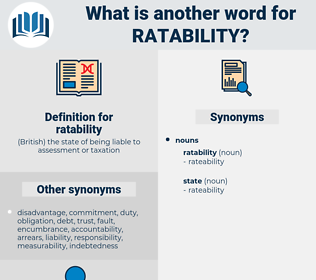ratability, synonym ratability, another word for ratability, words like ratability, thesaurus ratability