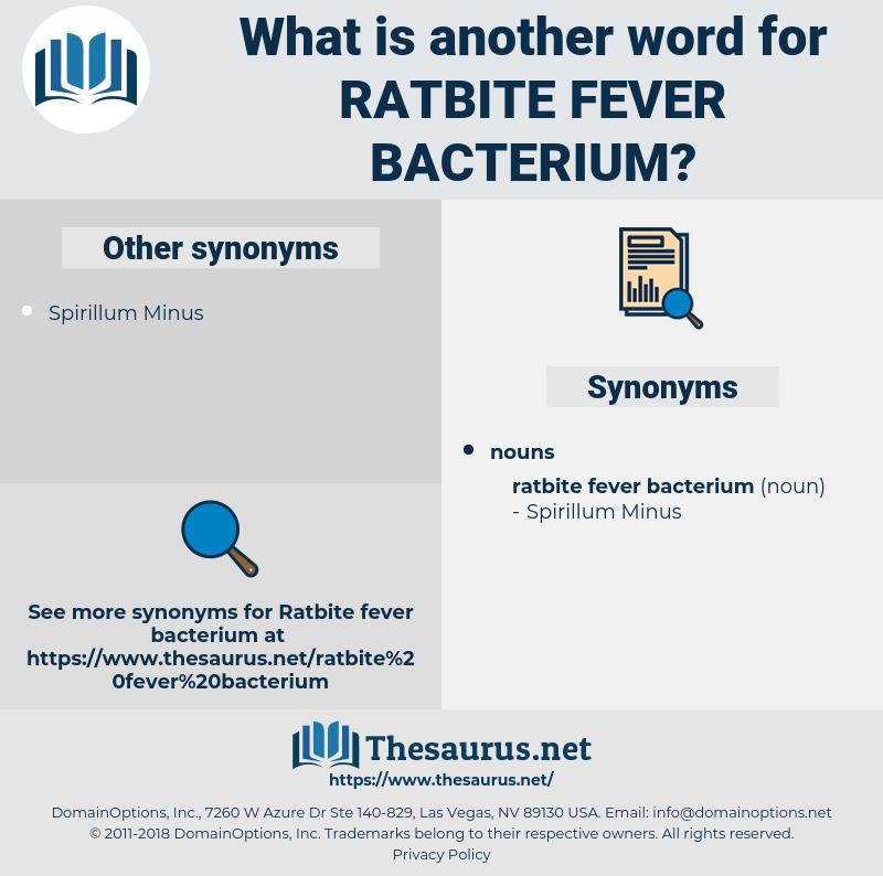 Ratbite Fever Bacterium, synonym Ratbite Fever Bacterium, another word for Ratbite Fever Bacterium, words like Ratbite Fever Bacterium, thesaurus Ratbite Fever Bacterium
