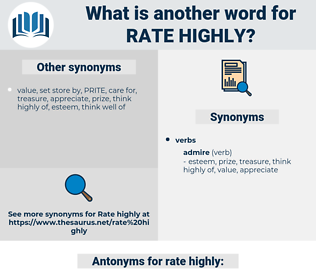 rate highly, synonym rate highly, another word for rate highly, words like rate highly, thesaurus rate highly