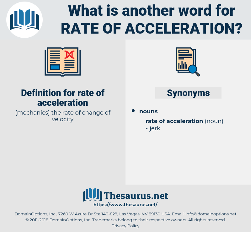 rate of acceleration, synonym rate of acceleration, another word for rate of acceleration, words like rate of acceleration, thesaurus rate of acceleration