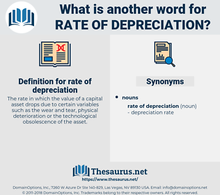 rate of depreciation, synonym rate of depreciation, another word for rate of depreciation, words like rate of depreciation, thesaurus rate of depreciation