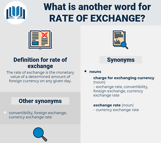 rate of exchange, synonym rate of exchange, another word for rate of exchange, words like rate of exchange, thesaurus rate of exchange